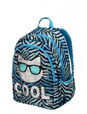 JUSTICE Girls Cool Cat Backpack, NEW