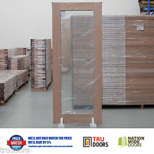 1 Lite Clear Safety Glass French Solid Timber Doors Meranti Hardwood