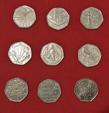 fifty pence p 50p Coin right to vote girl guides benjamin britten dictionary NHS