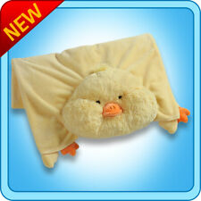 Authentic Pillow Pet Puffy Duck Blanket Plush Toy Gift