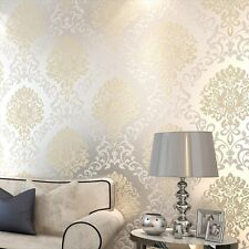 European Flocking Non Woven Wallpaper Wall paper Roll-SAMPLE