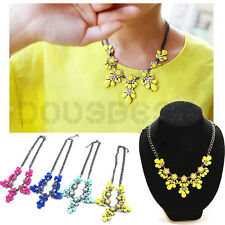FASHION CRYSTAL STATEMENT BIB PENDANT PARTY CHUNKY CHAIN CHOKER NECKLACE JEWELRY