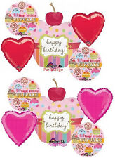 CUPCAKE BIRTHDAY PARTY BALLOONS BOUQUET SUPPLIES DECORATIONS CANDYLAND CANDY BAR