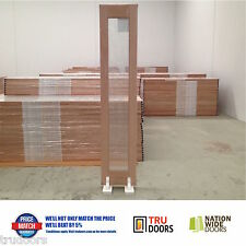 1 Lite Clear Glass BiFold French Solid Timber Doors Wardrobe Pantry Sidelights