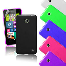 3in1 Premium Jelly Case Cover for Nokia Lumia 630 + Stylus + Screen Guard