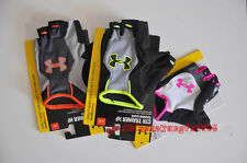 Under Armour Weight Lifting Gloves Fitness Gym Exercise Training PU Leather NWT