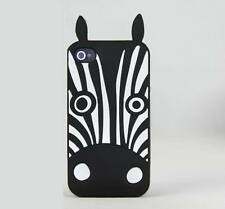 MARC BY MARC JACOBS Silicon Cute Animal Zebra Case Cover For iPhone 4 4S / 5 5S