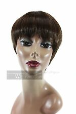 It Tress 100% Human Synthetic Blend Short Straight with Bangs H-Miko Wig