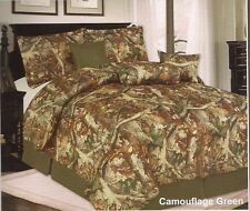 Camouflage Comforter 7pc Set King Queen Twin