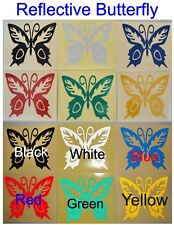 1x Reflective Butterfly - Glossy Stickers For Car or Home Decal # A01