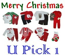 BABY BOYS CHRISTMAS OUTFIT SET BODYSUIT SHIRTS PANTS KIDS CLOTHES HOLIDAY UNISEX