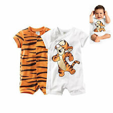 Newborn Baby Boys Cartoon Tigger Bodysuit Rompers Clothing Roupas De Bebe 0-36 M