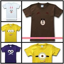 Naver Line App T-shirt Cony Brown Despicable Me Minion Xmas gift