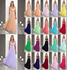 Hot Sell Cap Sleeve Evening Formal Party Ball Prom Bridesmaid Dress Size 6-18