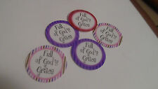 Pre Cut  One Inch Bottle Cap Images FULL OF GOD'S GRACE FREE SHIP