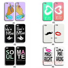 2 x Lovely Best Friends Lovers Couple Hard Back Case Cover For iPhone 4 4G 4S