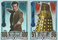 DR DOCTOR WHO ALIEN ATTAX RAINBOW FOIL CARDS 1 TO 16 PICK THE ONES YOU NEED