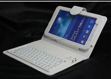 Leather Case Silicone Bluetooth Keyboard For Samsung Galaxy Tab 3 Lite T110 T111