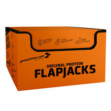 GoNutrition: Real Protein Flapjacks - Chocolate Coated - 12 x 75g - Free