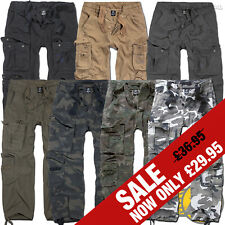Brandit Pure Mens Combat Cargo Trousers, Army Military Casual Work Camo Pants