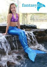 FANTASY FIN SWIMMABLE KID'S MERMAID TAIL with MONOFIN - SHIMMER BLUE