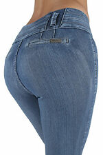 E003P – Plus Size High Waist Colombian Design Butt lift, Skinny Denim Jeans