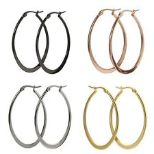 Fashionable High Quality Stainless Steel, Gold Plated Hoop Women Girls Earrings