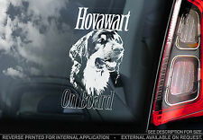Hovawart - Dog Car Window Sticker - Colour Options: Black/Tan, Black or Tan