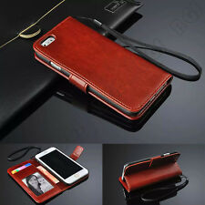 Luxury Flip PU Leather Photo Slot Credit Card Stand Cover Wallet Case For iPhone