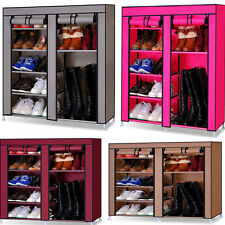 Portable Shoe Storage Organizer Wardrobe Clothes Rack With Shelves Book Cabinet