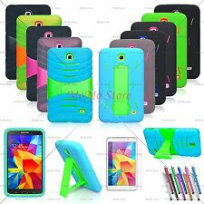 Hybrid Case Rugged Stand Shockproof Hard Cover for Samsung Galaxy Tab 4 7.0/8.0