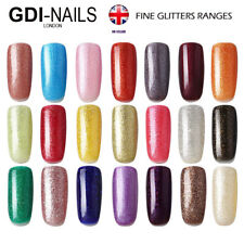 GDI NAILS UK SALON SOAK OFF UV/LED FINE GLITTERS COLORS GEL NAIL POLISH