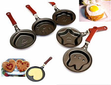 DI CA New Outdoor Kitchen Non-stick Stainless Steel Frying Pan Cartoon Egg Pot