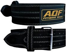 AQF Weight Lifting Nubuck Leather Power Belt Back Support Strap Gym Training Dip