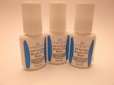 Brush-On Nail Resin (Glue) 2 sizes of bottles! w/ Two {2} Leopard Duster Files