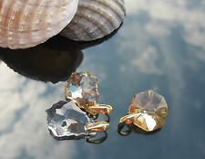 Crystal 925 Silver Earrings Pendant Gold Plated made with Swarovski Elements