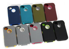 Rugged Combo Case+Holster Belt Clip For Otterbox Defender Series For IPhone 4 4S