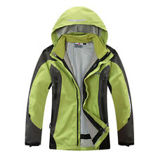 Womens 3in1 Windproof Waterproof Ski Jacket Winter Outdoor Travel Hooded Clothes