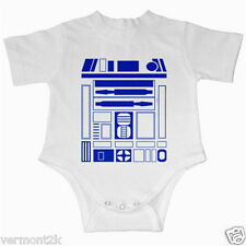 R2D2 BABY GROW / VEST FUNNY GIFT IDEA PRESENT QUALITY STAR WARS DARTH VADER