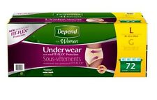 Depend Protective Underwear Women,Small/Medium 80ct, Large 72 ct, X-Large 60 ct