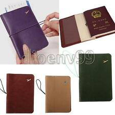 Plane Travel Organizer Leather Passport Holder Credit Card Case Protect Cover