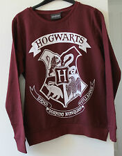 Primark Harry Potter Maroon Hogwarts Crest Sweatshirt 8 10 12 14 16 18 NEW