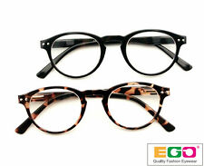 EGO Oval Style Vintage Reading Glasses Tortoise / Black Retro Round Spring Hinge