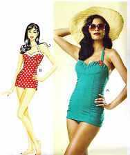 Butterick 6067 Retro Sew Pattern 1950s Inspired Bombshell Bathing Suit by Gertie