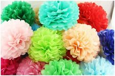 "Colorful 4"" Tissue Paper Pom Poms Flowers Balls Wedding Birthday Party Decor"