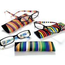 Striped Stripy Side Plastic Ready Readers Reading Glasses Spectacles +1.0 +1.5 +