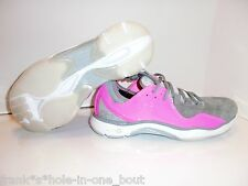 MENS UNDER ARMOUR UA CAM LOW BASKETBALL SNEAKERS PINK GRAY WHITE SUEDE NEWTON