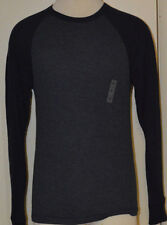 Men's Old Navy Blue Long Sleeve Thermal Classic Two-Tone Shirt Top Size Small