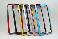 TPU Rubber Bumper Frame PC Shockproof Case Smart Cover For iPhone Sony Samsung