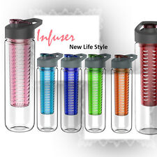 27oz Cold Sports Water Bottle, Fruit Infuser, BPA Free, Multi-Color